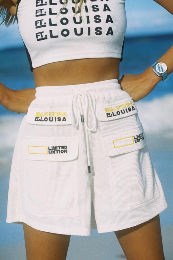 White Waffle Shorts