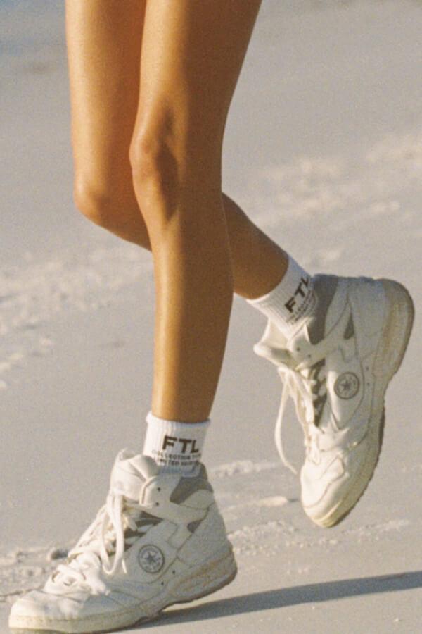 FT Drop 2 Socks - White