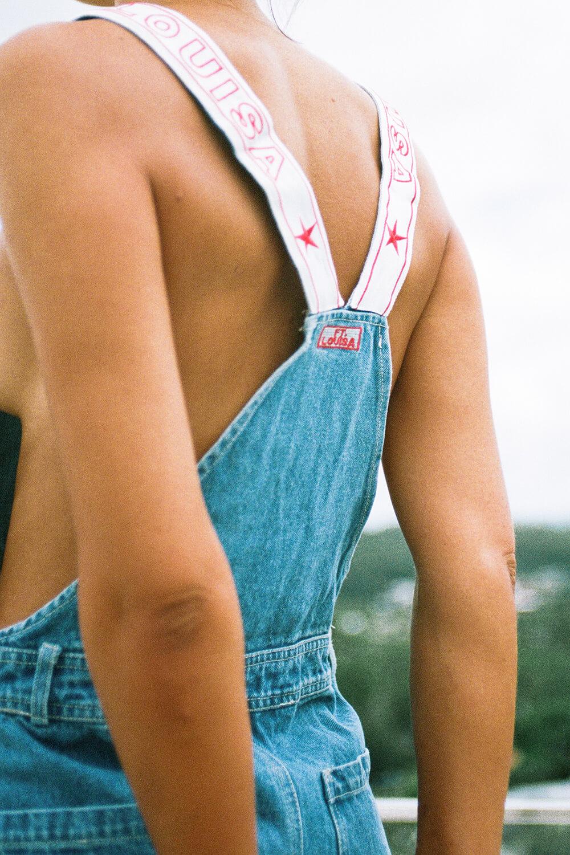 bottoms ft overalls   blue denim 8